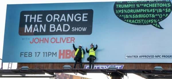 John Oliver show billboards hijacked with NPC 'Orange Man ...