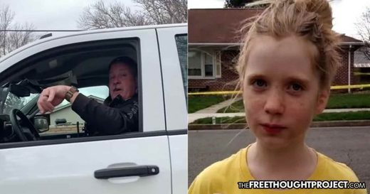 12 y.o. journalist stands her ground against cop trying to arrest her