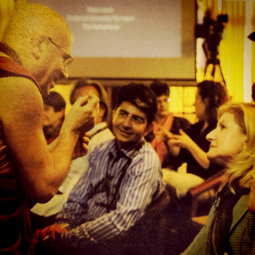 Pierre Omidyar Arianna Huffington dalai lama