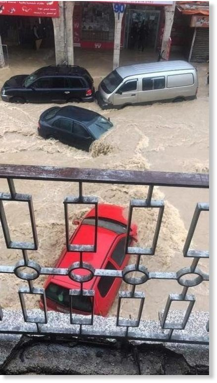 Heavy rainfall and flooding sparked chaos in