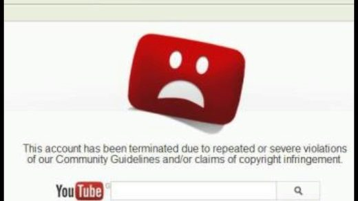 YouTube account deleted