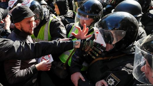 Clashes in Kyiv on March 9