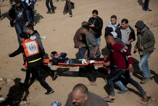 child shot gaza protest border