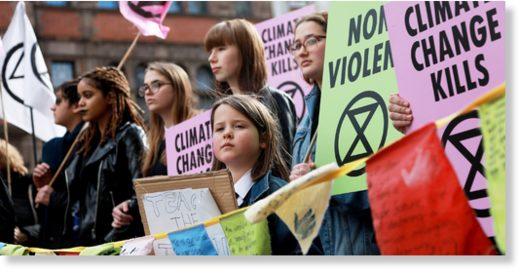 protest group Extinction Rebellion