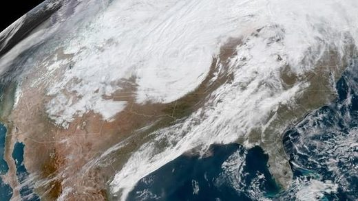A massive late winter storm is bringing blizzard conditions to a number of central U.S. states