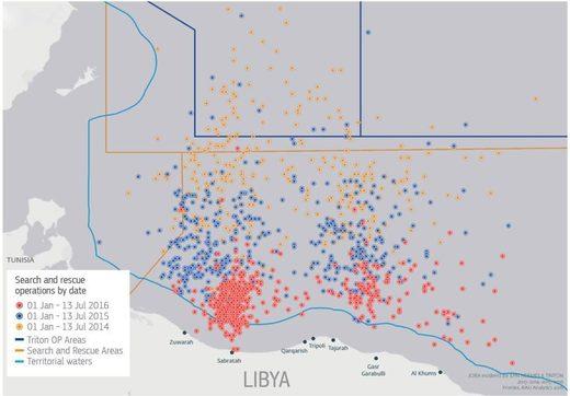 libya migrants EU rescues