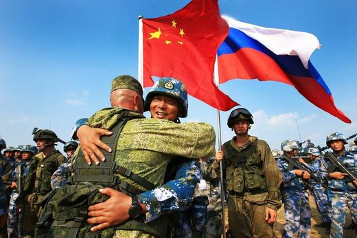 Chinese and Russian marines