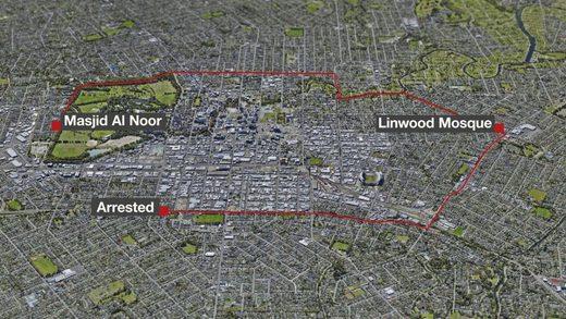 Tarrant Route Christchurch Terror