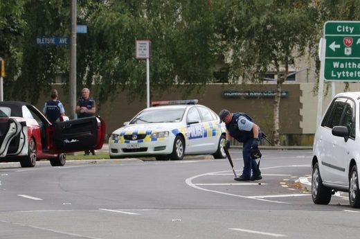 Christchurch, die Schrotflinte schießt