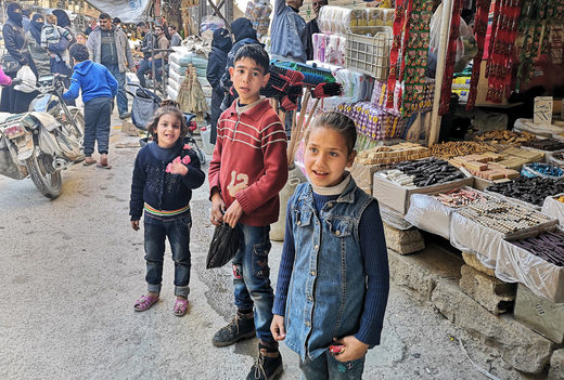 Children at Douma market