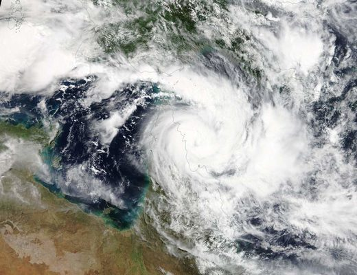 Satellite image of Cyclone Trevor