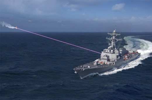 HELIOS laser system on a destroyer.