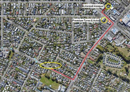 Egge Straße Christchurch Terror