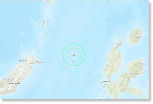 The quake was 150km north-west of the coastal