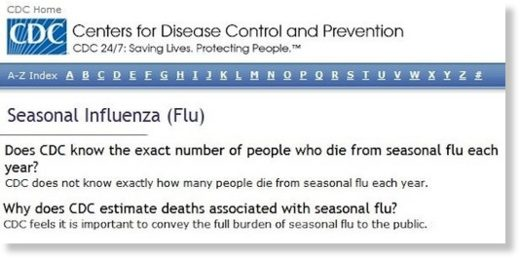 CDC flu deaths