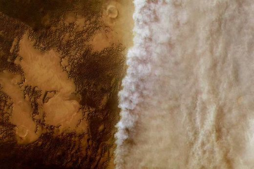 A dust storm on Mars