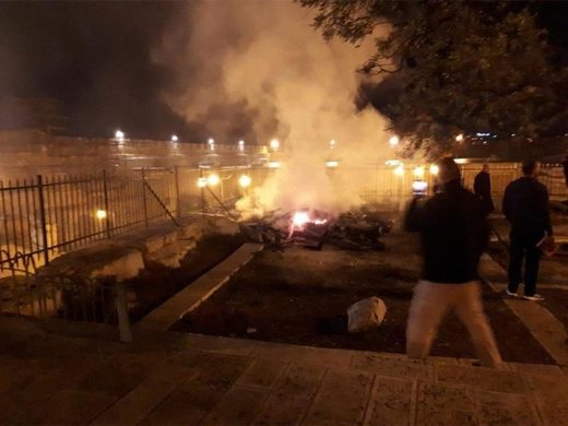 al aqsa mosque fire