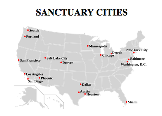 sanctuary cities locations illegal immigration