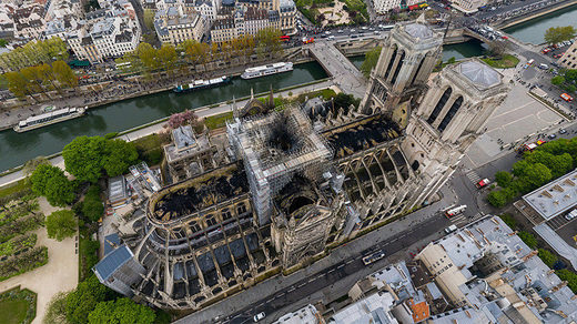 Aftermath of Notre Dame fires