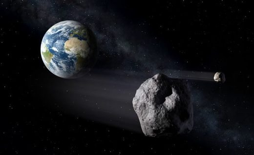 House-sized asteroid whizzes past Earth