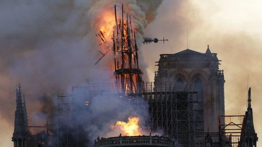 French cathedral's rector says Notre Dame destruction might have been made worse by computer glitch