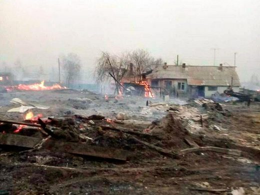 Hundreds lose homes as huge wildfires ravage Russia's Trans-Baikal