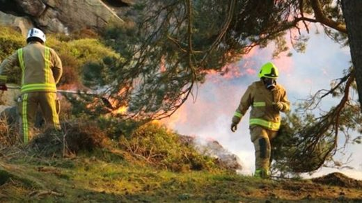 west yorkshire moorland fire