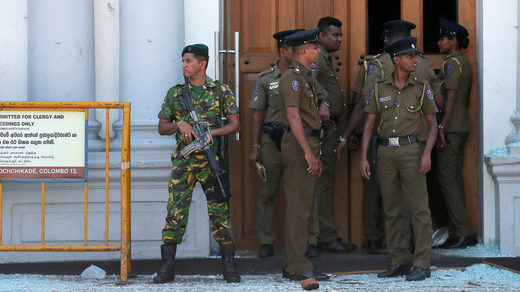 sri lanka soldiers church attacks