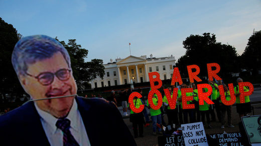 William Barr protest