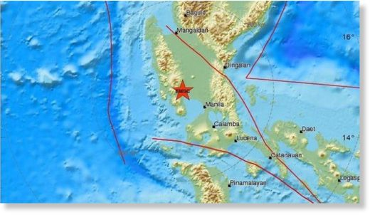 A strong 6.3-magnitude earthquake struck the Philippines island of Luzon on Monday afternoon