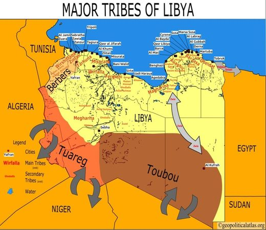 great libya tribes map