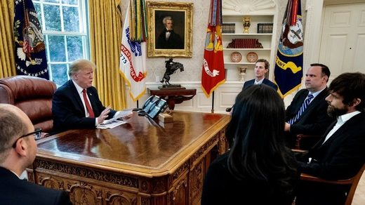 Trump with Twitter CEO Jack Dorsey