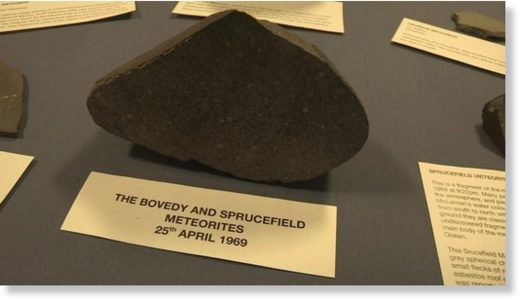 The Bovedy meteorite first appeared over the Bristol Channel as a blue-green fireball
