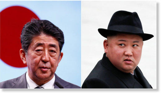 shinzo abe and kim jong-un