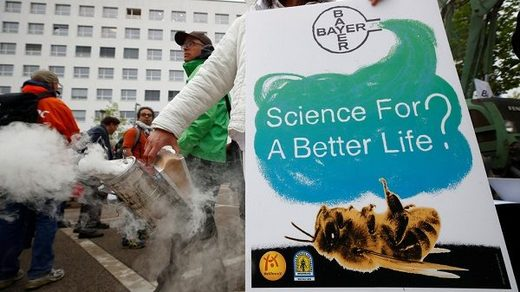 Bayer protesters
