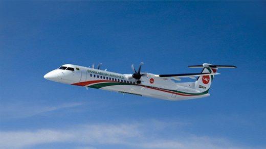 A Bombardier Q400 aircraft Biman Bangladesh Airlines