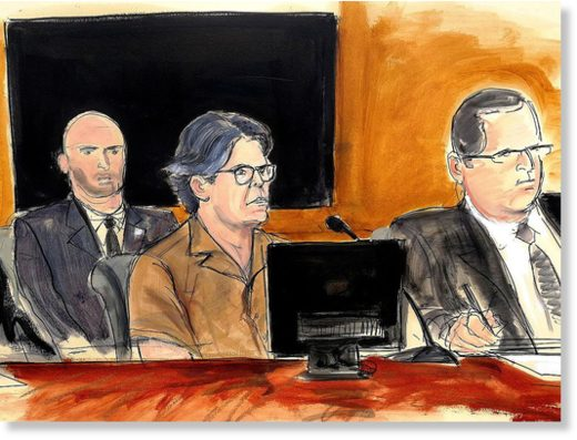 courtroom sketch Keith Raniere