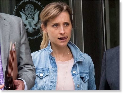 Actress Allison Mack leaves Federal court