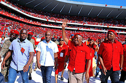 Julius Malema rally