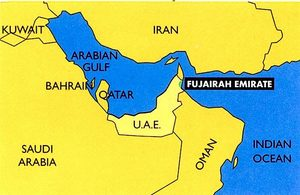 Fujairah/UAE map