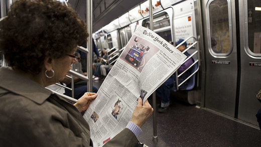 New York Times, subway