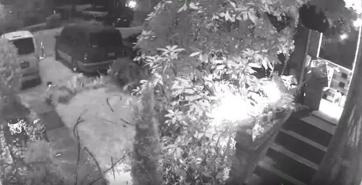 Home surveillance camera captures exploding meteor as it lights up sky in Seattle, Washington