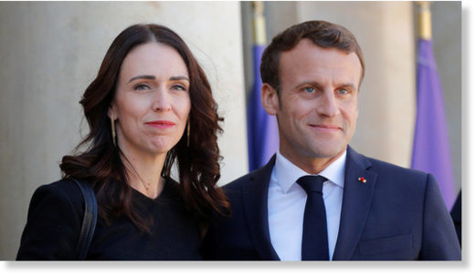 jacinda arden and macron