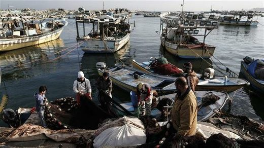 gaza fishing boats fishermen palestine