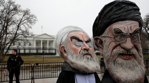 Iran White House caricature