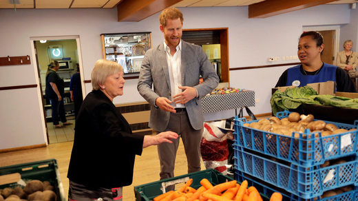 prince harry Uk britain food bank