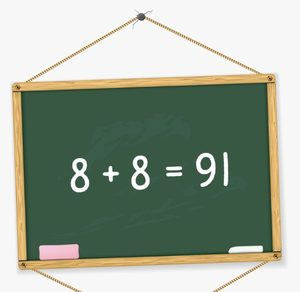 Make this mathematics equation correct without drawing anything or moving the numbers.