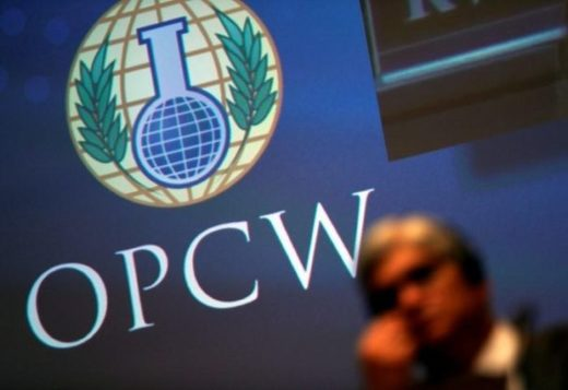 OPCW logo chemical weapons