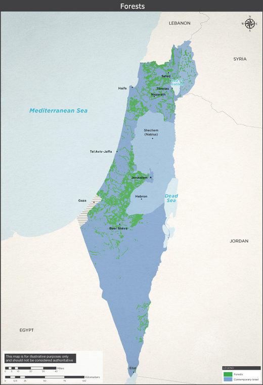 forests israel hide Arab villages