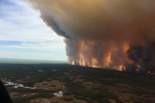 Wildfire in northern Alberta